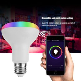 Dimmable Energy Saving Bulbs Australia - 1 Set Smart Bulb Dimmable Color Changing WiFi Wireless Remote Voice Control No Hub Energy Saving Distance Operate