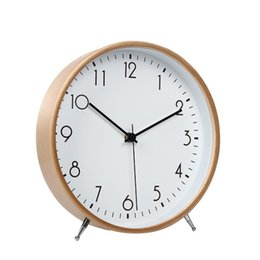 $enCountryForm.capitalKeyWord UK - Decoration Desk Simple Alarm Office Desktop Snooze Function Mute Bedroom Clock Pendulum Silence Table Vintage Wooden Clock LY453
