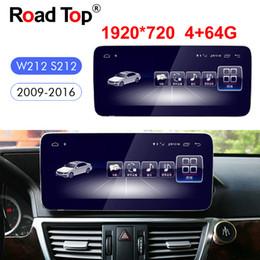 """Vente en gros 10.25"""" Android 8 Octa 8-Core Navigation GPS Radio voiture Bluetooth WiFi chef d'unité écran pour Mercedes Benz Classe E W212 2009-2016 S212"""