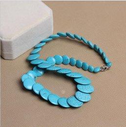 National Wind Jewelry Wholesale Tibetana Natural Turquesa Collar Retro Colgante Azul Turquesa en venta