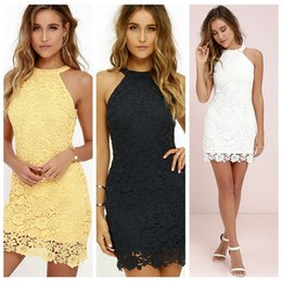 0126fc6e26 Lace top soLid penciL dress online shopping - Hot sale hanging neck slim pencil  skirt sexy