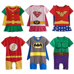 purple superhero costumes Australia - Baby Boys Girls Superhero Costume Romper Infant Cosplay Funny Jumpsuit Playsuit Toddler Carnival Party Fancy Dressing Up Cos J190525