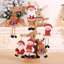 $enCountryForm.capitalKeyWord NZ - 3PCS Set Cute Santa Claus&Snowman&Deer Christmas Pendant Ornaments Dolls Kids Christmas Gift For Home Party Decoration