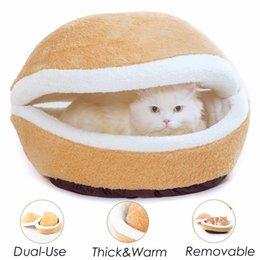 $enCountryForm.capitalKeyWord Australia - Pet Bed Removable Hamburger Dog House Short Plush Small Cat Sleeping Bag Sofas Mat Warm Puppy Kennel Nest Cushion Pet Products