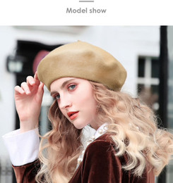 french hats beret NZ - French Style Slouchy Wool Felt Beret Women Fashion British Chic Girls Beret Hat Lady Solid Warm Winter Hats Women Dropshipping