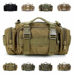 handbag tactical NZ - Tactical Molle Waist Fanny Pack Belt Bumbag EDC Military Travel Large Outdoor Cycling Bum Bags Shoulderbag Camera Bag Multifunction Handbag