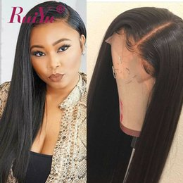 Human Hair for black women online shopping - 360 Lace Frontal Wig Straight Wigs Lace Frontal Human Hair Wigs For Black Women Ruiyu Indian Lace Front Wig With Baby Hair