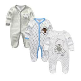 $enCountryForm.capitalKeyWord UK - 2019 Unisex 2 3pcs lot Baby Rompers 0-12m Pajamas Newborn Clothing Set Baby Girls Clothes Baby Boy Clothes O-neck Roupa De Bebe MX190720