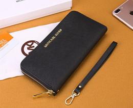 $enCountryForm.capitalKeyWord NZ - Explosion models ladies long wallet classic large-capacity wallet solid color zipper hand wrist bag free post