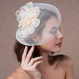 veils for church NZ - Z &F Fascinator Wedding Veils Headpieces For Wedding Feathers Court Church Vintage Horse Riding Headpiece Bridal Elegant Lady European Style