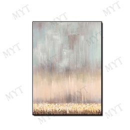 Gold Framed Paintings Australia - No framed Modern wall art home decor pure Hand-painted gold plating Abstract Oil Painting on canvas wall picture for living room