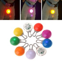 wholesale cat dog collar pendants Australia - Pet Pendant Safety LED Flash Light Glow Collar Puppy Dogs Cat Luminous Identify