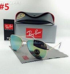 40f205a7a7 Wayfarers pilot 3025 RAYS Sunglasses Men Women 58mm Brand Cat Eye Sun  Glasses Bands BEN Mirror Gafas de sol BANS with cases