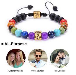 $enCountryForm.capitalKeyWord Australia - 7 Chakra Healing Black Lava Healing Balance Beads Natural Lava Stone Diffuser Reiki Prayer Yoga Bracelet Stones Jewelry