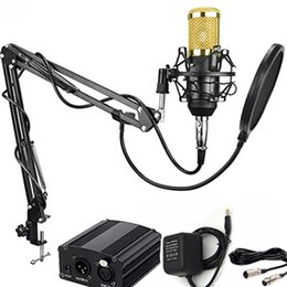 RecoRding micRophones online shopping - New Professional Condenser Microphone for computer bm Audio Studio Vocal Recording Mic KTV Karaoke Microphone stand