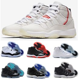 b286f8eb897f97 Best Quality 11s Mens Basketball Shoes 11 Concord 45 Platinum Tint Space  Jam Bred Gamma Blue Men Women Sneakers Sports Shoes Size 7-13