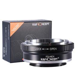 Vente en gros KF Concept Adaptateur de monture d'objectif FD vers NEX pour objectif Canon FD FL vers Sony NEX Appareil photo à monture E pour Sony Alpha NEX-7 NEX-6 NEX-5N