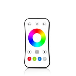 touch control dimmer Australia - 2.4G RGB RGBW Remote Control R8-1 Ultra-thin dimming wireless remote controller touch color ring RGB RGBW remote 1 zone