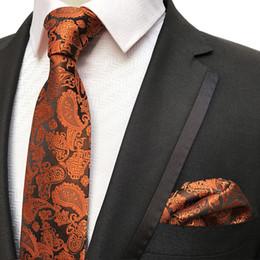 $enCountryForm.capitalKeyWord NZ - Navy blue Tie for Men Paisley Necktie Set with Pocket Square Hanky Suit Accessories Formal Party Necktie Handkerchief Set