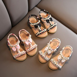 Discount cute heels kids Summer Style Sandals Children Casual Shoes Toddler Kids Girls Beach Sandals Cute Bow Girls Princess Shoes 1-8 Years Snea