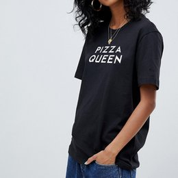 52a1c94824ce Pizza Printed Shirt Australia - Pizza Queen Letter Print Female T Shirt  Harajuku T-Shirts
