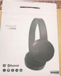 $enCountryForm.capitalKeyWord Australia - WH-CH500 fashion headpone head-mounted wireless bluetooth headset Bass binaural two-ear phone tablet call headset with retail package car