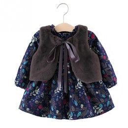 9ee64e7730ed New Baby Girl Dress Clothes Warm Winter Fall Long Sleeve Floral Cotton Dress  6 Months Princess Girls Dress Tolldler Kids Clothes J190506