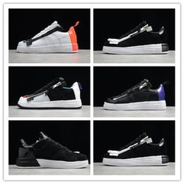 Discount sneakers for women zipper - 2019 New Arrive Black White Zipper Casual Running Shoes For High Quality Leatherwear Men Women Fashion Brand Sports Snea