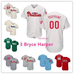 Großhandel Gewohnheit 2019 New Phillies Philadelphia 3 Bryce Harper Jersey 10 JT Realmuto Philadelphia 7 Maikel Franco 17 Rhys Hoskins 27 Aaron Nola S-4XL