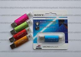 Metal 256gb Flash Drive Australia - DHL shipping 16GB 32GB 64GB 128GB 256GB SONY Metal Mini OTG usb flash drive USB2.0 Storage disk flash pendrive For Smart phone computer