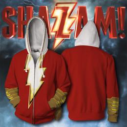 Discount cosplay dc comics - DC Comics The Flash&Shazam 3D Print Cosplay Costume 01 Hoodies Men Hooded sweatshirt Jacket With Zipper Superhero Loose