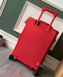 24 inches luggage UK - suitcase BrandCabin Luggage and handbag, 20 inch Suitcase set, Red Travel Case,Rolling trip Bag,Universal wheel Trolley, Box