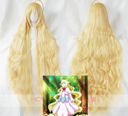 wigs fairy 2019 - Details about Fairy Tail Mavis Vermilion Long Curly Light Blonde Anime Party Cosplay Hair Wig cheap wigs fairy