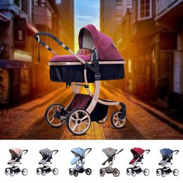 Infant Carriages Australia - Foldable Pram Baby Stroller Infant Car Seat Safety Chair Basket Baby Cradle Carriage Pram By Strollers Four-Wheel For Travelling VB