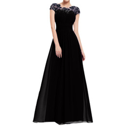 $enCountryForm.capitalKeyWord Australia - Dress Women Floral Sheath Solid Lace Dress Formal Vintage Short Sleeve Slim Wedding Maxi Fashion Ladies c0513