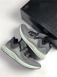 Futurecraft 4D Alphaedge LTD Aero Ash Green Print Black White Grey Men  Running Shoes Sports Sneakers Trainers ba56a567a