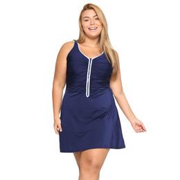 $enCountryForm.capitalKeyWord NZ - Women's One Piece Zip Front Skirted Plus Size Swimdress Swimsuit Y19072401