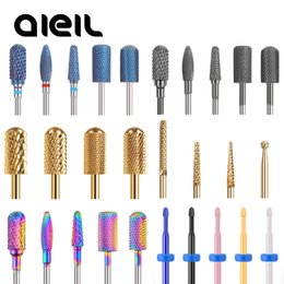 Cutter Carbide NZ - Ceramic Milling Manicure Machine Carbide Nail Drill Bits Ceramic Carbide Milling Cutters For Manicure Nail Drill Machine Bits