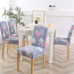 universal banquet chair covers Australia - Fashion Floral Printing Spandex Chair Covers Elastic Universal Seat Cover for Wedding Hotel Banquet Chair Decoration Supplies 20 Patterns
