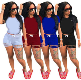 Wholesale ladies sportswear clothing for sale – designer 1 Short Sleeve T Shirt Short Pants Clothes Women s Tracksuits Girls Sets Ladies Casual Running Clothing Adult Sportswear Suit