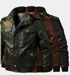 667af4d5911 2019 new spring autumn men s Clothing youth jacket flight suit leather  jackets Outerwear Coat