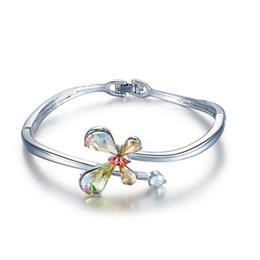 Steel Ceramic Diamond Ring UK - Wedding Party beaded pearl gift woman lady diamond jewelry Bracelet for bride acting initiation graduation CDE-1470