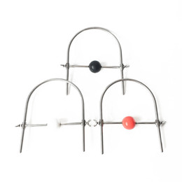 Soft Red Ball Gag UK - Adjustable size Stainless steel collar with Soft ball mouth gag Ball Bondage sex toy adult toys
