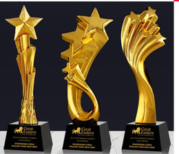 $enCountryForm.capitalKeyWord Australia - Beidou Five-Star Blessing Officer Five-Star Glory Brilliant Gold-plated Resin small decoration trophy crafts Free engraving World Cup
