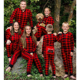 $enCountryForm.capitalKeyWord Australia - Family Matching Christmas Pajamas Plaid Family Look Mom Mother Daughter Father Pyjamas Jumpsuit Sleepwear Mommy And Me Nightwear