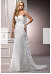 Silk Satin Sheath Wedding Dresses Australia - Sheath Column Strapless Sweetheart Court Train Chiffon Wedding Dress qP