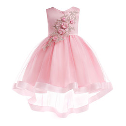 $enCountryForm.capitalKeyWord NZ - 2019 Pink Flowers Girl Dress for Wedding Party Summer Newborn Baby Clothes Red Sexy Princess Party Kids Dresses for Girl Infant Costume