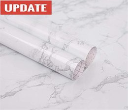Large roLL paper online shopping - practicalWs Marble Contact Paper Granite Gray White Roll Kitchen countertop Cabinet Furniture is renovated Thick Waterproof PVC Easy to Remo