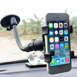 universal car windshield mount for cellphone 2019 - 360 degree Rotating Universal Car Windshield Mount Stand Holder Support for iPhone CellPhone discount universal car wind