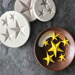 fondant cakes stars Australia - Hot Sale Five-pointed Star Fondant Cake Silicone Mold DIY Candy Cookie Cupcake Molds Baking Decorating Tools Biscuits Mould